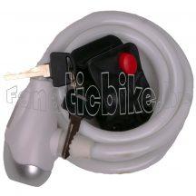 Lakat spirál kábel kulcsos 10x1500mm fehér