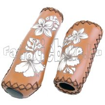 Virágmintás markolat 92/135mm barna