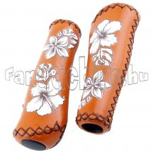 Virágmintás markolat 135mm barna