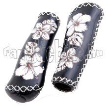 Virágmintás markolat 135mm fekete