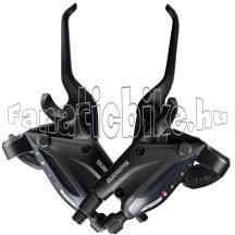 Shimano Altus ST-EF505 3x8 sebességes fékváltókar hidraulikus tárcsafékhez fekete