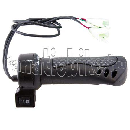 Gázkar elektromos kerékpárhoz (3 állású kapcsolóval)