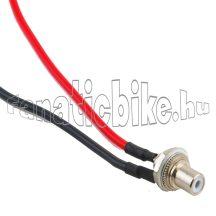 Csatlakozó aljzat és vezeték elektromos kerékpárhoz (2 érintkezős O )