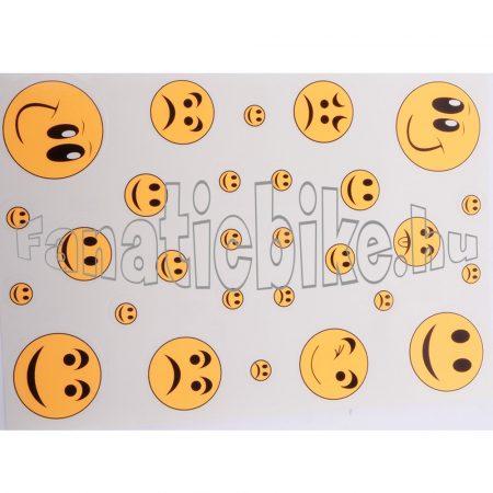 Matrica szett smile neon narancs