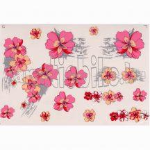 Matrica szett rózsaszín-krém virágszirmok