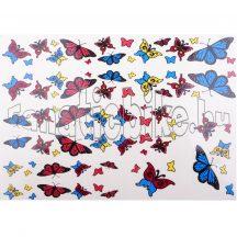 Matrica szett színes pillangó