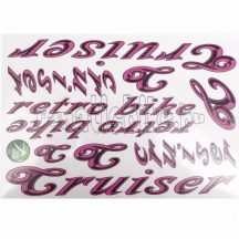 Matrica szett Cruiser rózsaszín