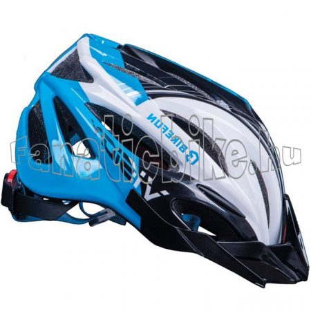 Bikefun Vision fejvédő kék-fekete-fehér