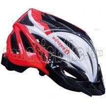 Bikefun Vision fejvédő piros-fekete-fehér