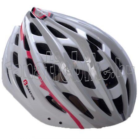 Bikefun Skystream fejvédő fehér-szürke M (55-58cm)