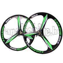 """3-küllős kerék szett MTB 26"""" zöld-fekete"""