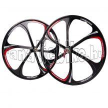 """6-küllős kerék szett MTB 26"""" piros-fekete"""