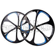 """6-küllős kerék szett MTB 26"""" kék-fekete"""